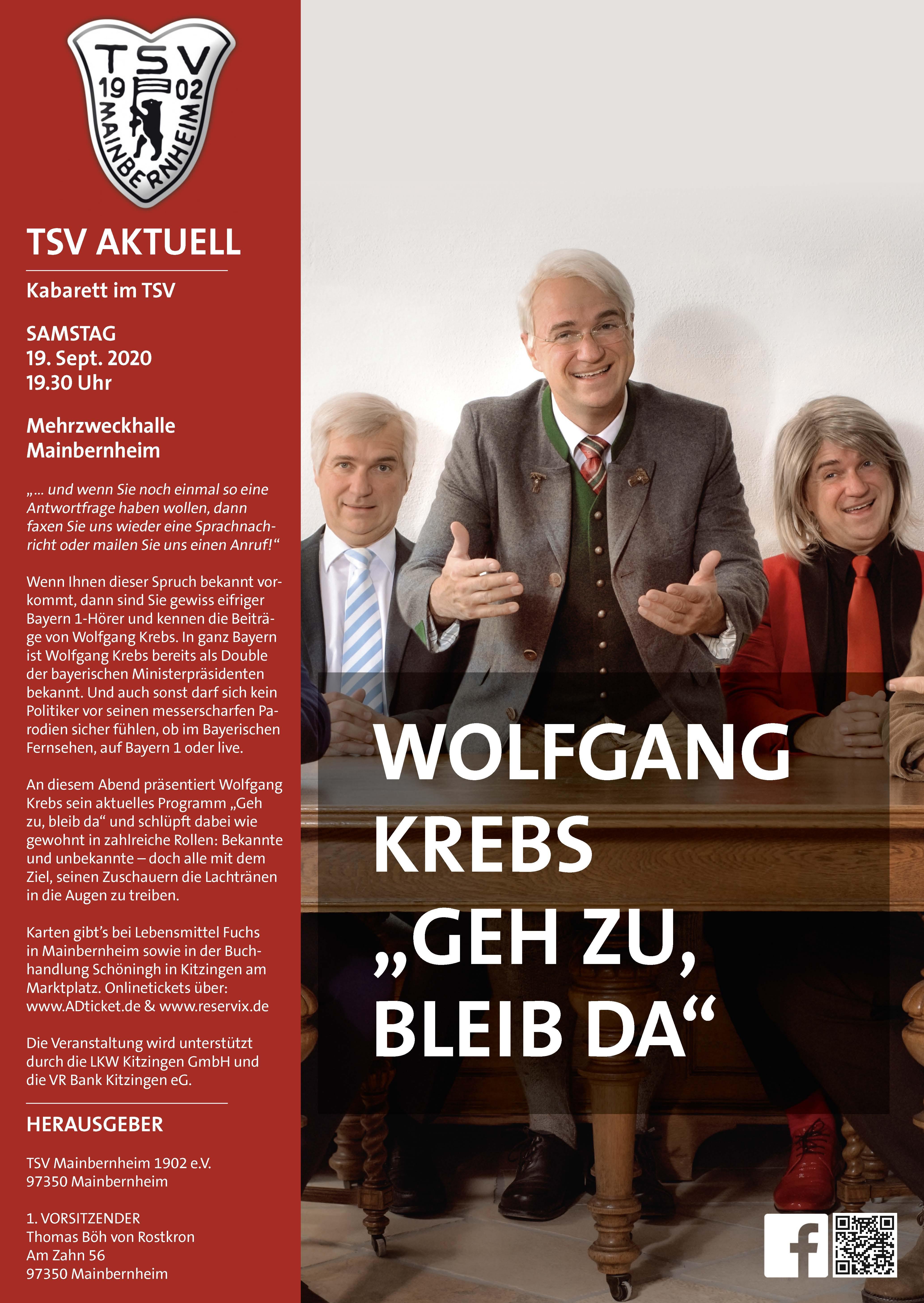 Flyer Wolfgang Krebs_Geh zu, bleib da